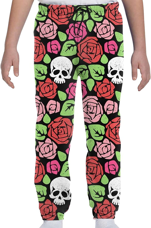 Save money YAZXHJAZ Youth Kids Jogger Pants Rose Graphic Sweatpants Fresno Mall Baggy