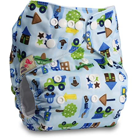 Reusable Pocket Cloth Nappy Without Insert Fastener: Hook-Loop Littles /& Bloomz Patterns 401 Set of 4