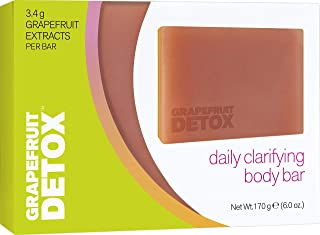 Grapefruit Detox Daily Clarifying Body Soap Bar   Deeply Cleanses to Remove Dirt, Oil and Impurities Without Drying Out Your Skin, 6 Ounce