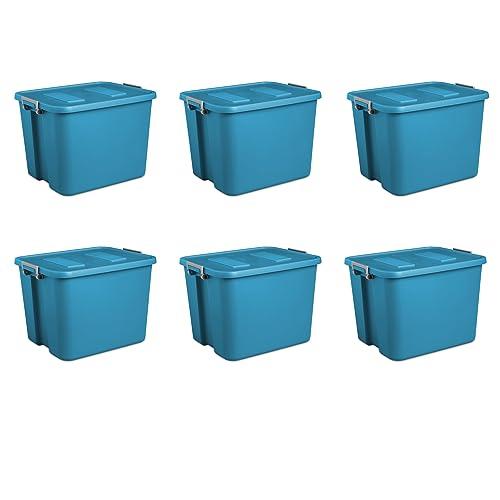 Sterilite 17424306  Liter Latch Tote Blue Aquarium