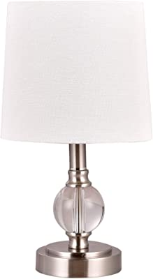 Signature Design By Ashley Laurentia Glass Table Lamp With Drum Shade Champagne Toned Amazon Com