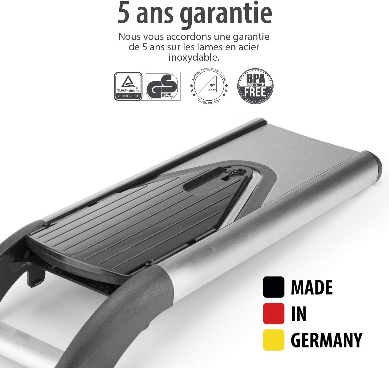1. Basis Set V6 ExclusiveLine Gem/üsehobel Zwiebelschneider Pommesschneider