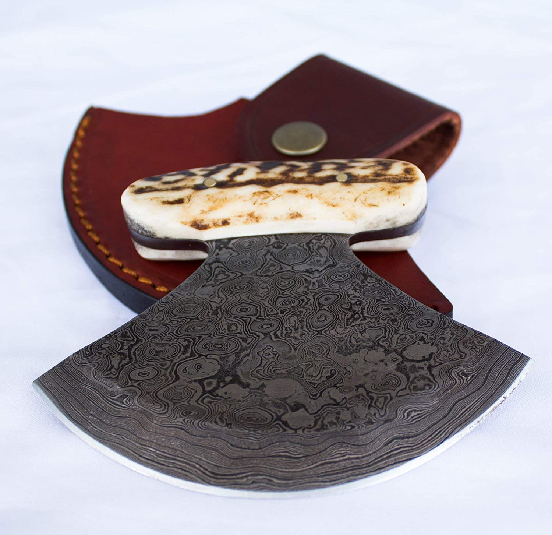 Handmade Traditional Ulu Knife excellence Sale item with Custom Damascus Steel Blade