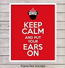 Mickey Mouse Keep Calm Typography Art Print Wall Poster - Unique Home Decor for Office, Bedroom, Kids Room, Classroom - Gift for Walt Disney World, Disneyland Fans, Teachers - 8x10 Photo Unframed