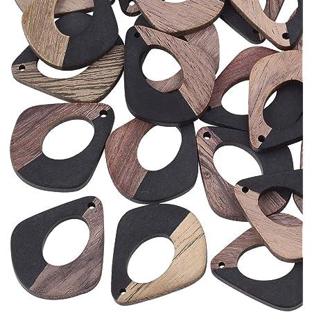OLYCRAFT Resin Wooden Earring Pendants