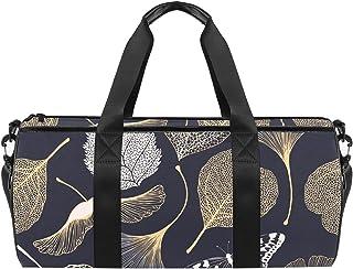 حقائب رياضية رياضية للكتف حقيبة سفر واق من المطر للرجال والنساء أوراق الجنكة بيلوبا الزهرية