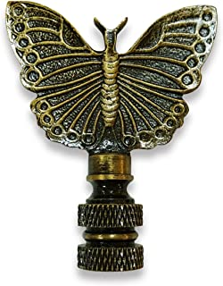 Royal Designs Monarch Butterfly Lamp Finial for Lamp Shade-Antique Brass