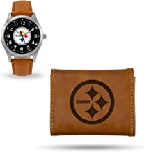 Rico Industries Steelers Sparo Brown Watch and Wallet Set