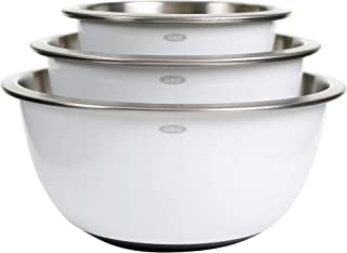 oxo white stainless steel mixing bowls