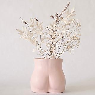 Female Form Body Flower Vase, Ceramic Vases for Modern Boho Home Decor, Lady Butt Vase,..