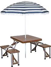 Stansport Picnic Table and Umbrella Comb