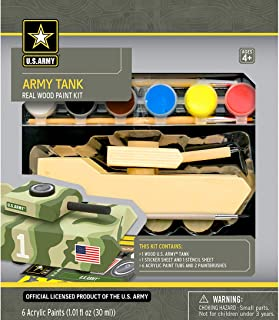 MasterPieces Works of Ahhh Army Tank Large Wood Paint Kit