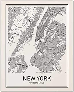 New York Poster, New York Map, New York City, City Map Posters, NYC, New York Print, New York Art, New York Art, Minimalist Art, Map Wall Art, New York Map Art, NYC Poster, 8x10