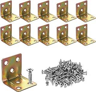 10PCS Corner Braces 30x30x30mm,Heavy Duty Corner Steel Joint Right Angle L Bracket for Shelves Furniture Wood Wall Hanging Fastener,Reinforce Bracket,Package Include Screws