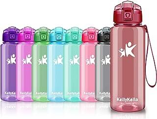 KollyKolla ボトル 水筒 プラスチック ウォーターボトル ドリンク軽量 ボトル 1000ml 500ml 750ml ぷらすちっく直飲み おしゃれ 子供 プラ スポーツボトル 自転車 登山 ヨガ用 (光沢濃い赤, 750ml)