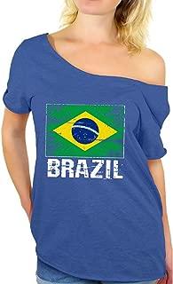Awkward Styles Brazil Shirt Off Shoulder Brazil Flag Tshirt Brazil Gifts for Her