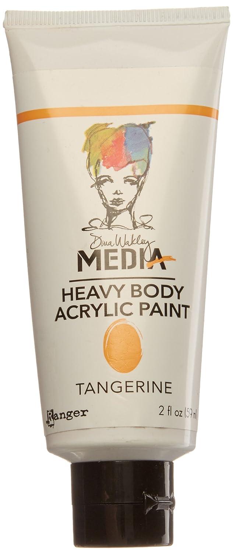 Ranger Dina Wakley Media Heavy Body Acrylic Paint, 2-Ounce, Tangerine