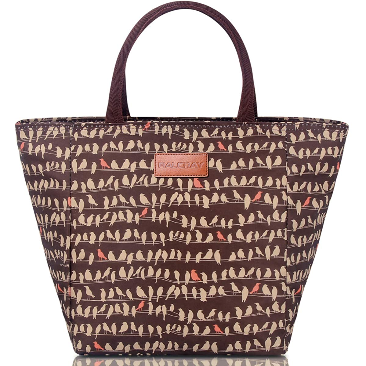 BALORAY Lunch Bag for Women Lunch Tote Bag Lunch Organizer Lunch Holder Lunch Container (G-199XL Brown)