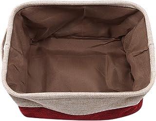 Unknow FEITeng Boîte de Panier de Rangement en Tissu avec poignées Organisateur de Bureau Pliable à la Maison,Rouge