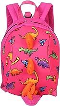ZLMBAGUS 3-6 Year Old Little Kids Toddler Backpack Dinosaur Shaped Shoulder Satchel Bag with Safety Leash Anti-lost Daypack Purse Pink