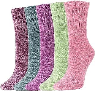 Women Winter Socks Warm Wool Thick Vintage Pattern Girls Cotton Socks Gift Box