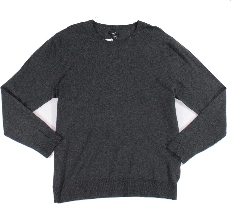 Alfani Mens Sweater Small Pullover Gray Long-Sleeve NEW before selling ☆ Crewneck Las Vegas Mall S