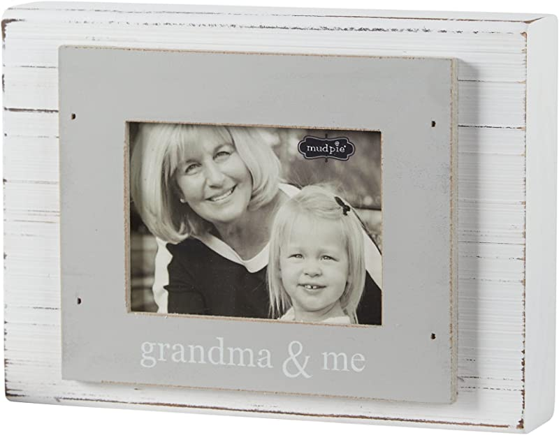 Mud Pie Grandma And Me Frame Gray White 3 X 4