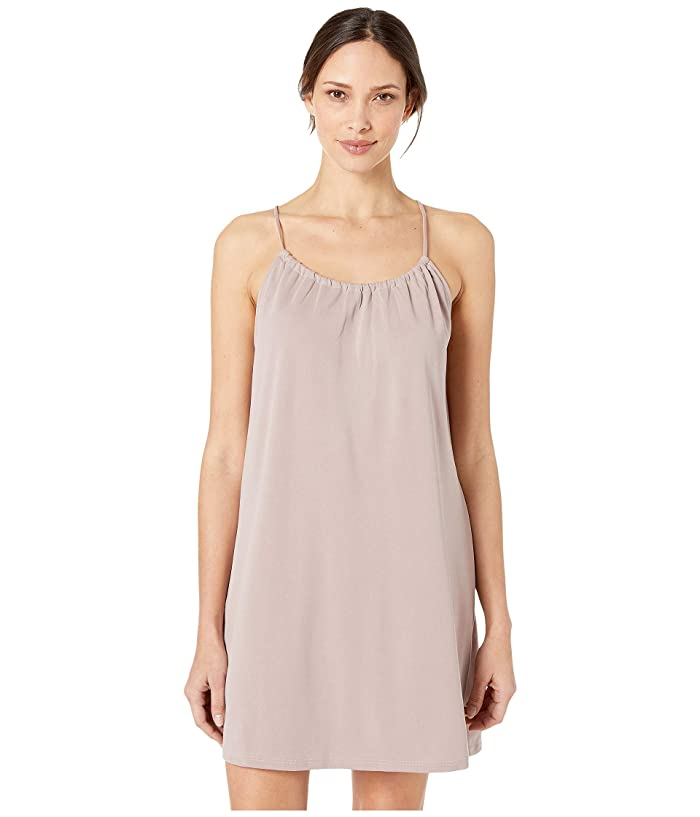 American Rose Madelyn Spaghetti Strap Halter Dress (Taupe) Women