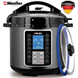 Mueller UltraPot 6Q Pressure Cooker Instant Crock 10 in 1 Pot with German ThermaV Tech
