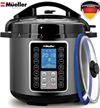 Mueller UltraPot 6Q Pressure Cooker Instant Crock 10 in 1 Pot with German ThermaV Tech,..