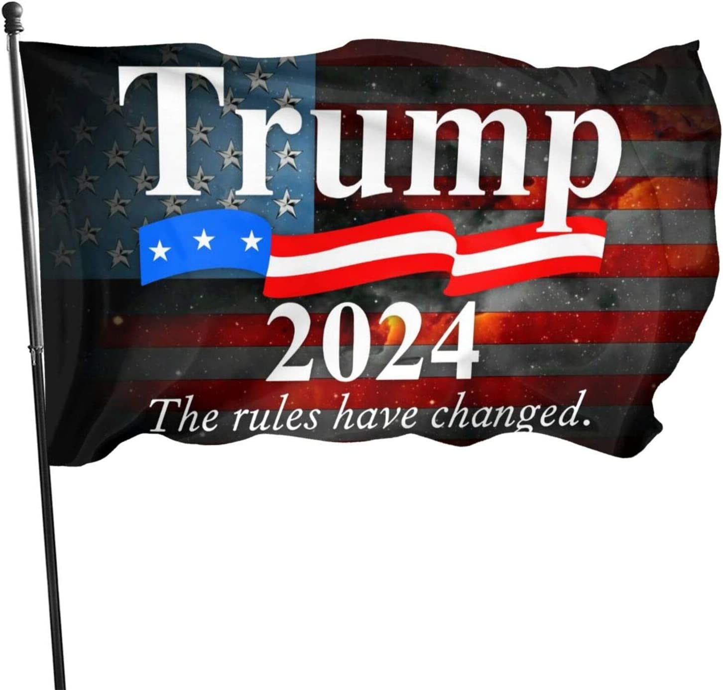 AIJEESI Trump 2024 The Rules Have Changed Flag 3x5 Ft Banner Flags Garden Flag Home House Flags Outdoor Flag