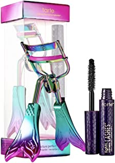 Tarte [Limited Edition] Picture Perfect Eye Set~ Eyelash Curler & Deluxe Lights Camera Lashes 4-in-1 Mascara- Black 0.1oz/3ml~ Be a Mermaid and Make Waves Collection