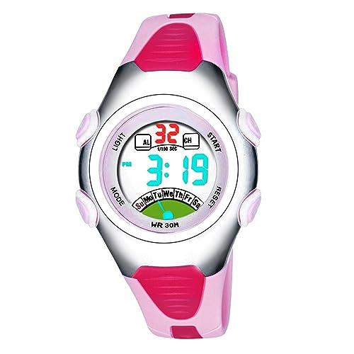 Las niñas de los relojes digitales, Kids 3 ATM impermeable de los deportes reloj con