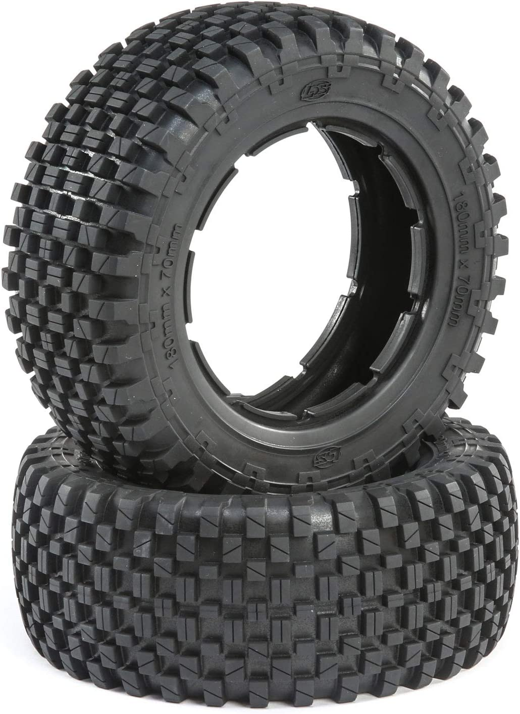 Losi 1 5 Long-awaited Front Rear 4.75 Wheel and Hex Quality inspection 24mm Grey Beadlock Set