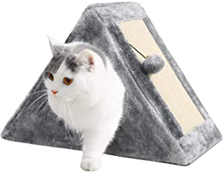 PAWZ Road Cat Tower with a Cozy Condo Scratching Board and Fuzzy Ball Easy to Fold and Store Great for Kittens and Small Cats