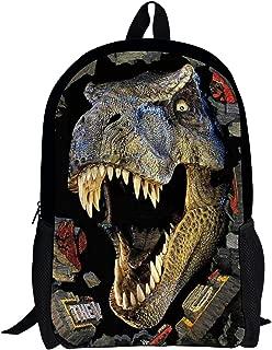 DeePrint Dinosaur 17 Inch Backpack School Bags Book Bags Lightweight Durable Daypack for Kids Girls (Dinosaur 2)