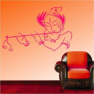 "Kayra Decor Vinyl ""Lord Krishna"" Reusable Wall Stencil Plastic Sheet for Wall Decor (16 x 24inches)"