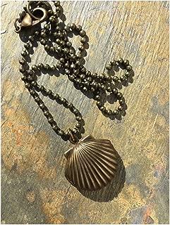 Camino de Santiago Pilgrim's Shell Locket Necklace Unisex Mens Men's Man's Women Womens