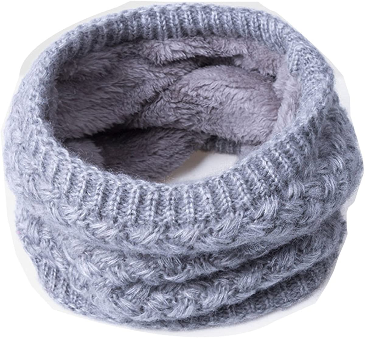 LKXHarleya Children Knitted Winter Collar Thick Wool Scarf Ring Neck Scarves