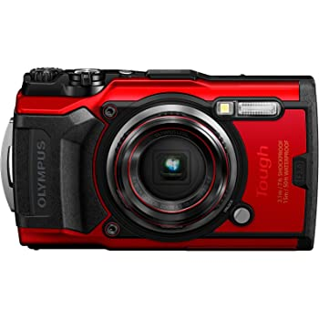 Olympus Tough TG-6 Waterproof Camera, Red (Renewed)