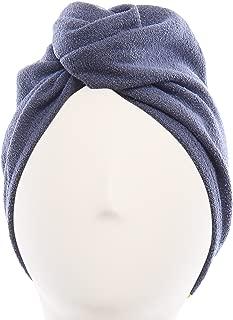 Aquis - Original Hair Turban, Patented Perfect Hands-Free Microfiber Hair Drying, Dark Grey (10 x 26 Inches)