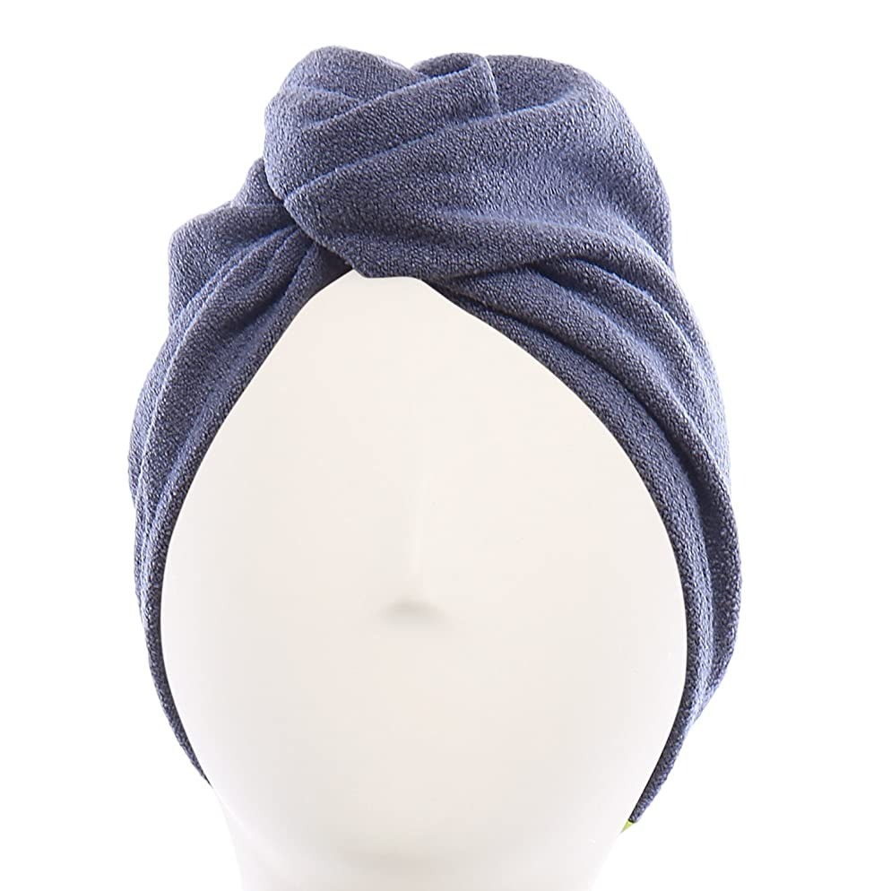 Aquis - Original Hair TURBAN, Patented Perfect Hands-Free Microfiber Hair Drying, Dark Grey (10 x 27 Inches)