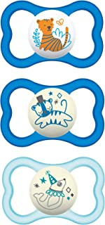 MAM Air Night & Day Pacifiers (1 Day & 2 Night Pacifiers), MAM Sensitive Skin Pacifier 16 Months, Glow in the Dark Pacifie...