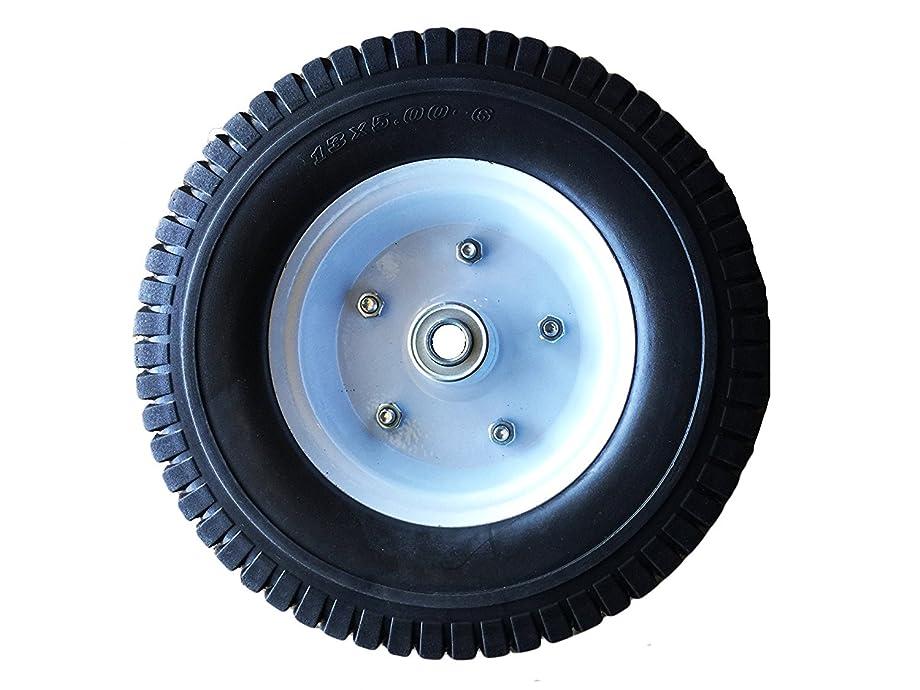 Heavy Load Flat Free Extra Wide Wagon Dolly Cart Tire (11-3/4