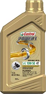 Best Castrol 06412 Power RS 10W-50 4-Stroke Motorcycle Oil - 1 Quart, (Pack of 6) Review
