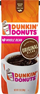 Dunkin' Donuts Original Blend Medium Roast Whole Bean Coffee, 12 Ounces (Pack of 6)