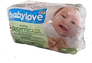4er Pack babylove Waschlappen feucht 4 x 80 St