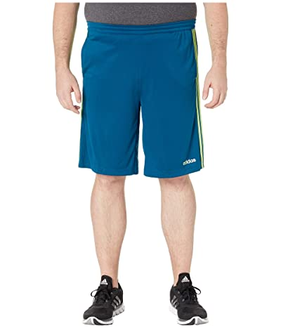 adidas Big Tall D2M 3-Stripe Shorts (Legend Marine/Hi-Res Yellow) Men