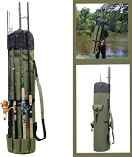 Fishing Rod Bag Holder Fishing Rod Carrier Fishing Pole Travel Case Tackle Box Storage Multifunctional Stand Bags Large Capacity Lightweight Waterproof Fishing Gear Organizer