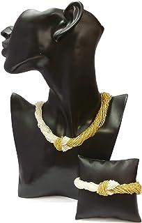 Venetiaurum - Parure Collana e Bracciale in Argento 925 e Vetro di Murano - Gioiello Made in Italy Certificato